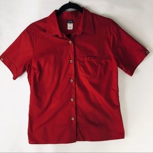 Woman's Patagonia, short sleeve, button up shirt